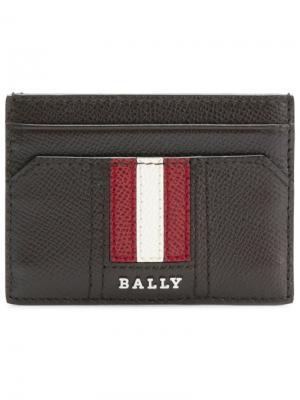 Визитница с логотипом Bally. Цвет: коричневый