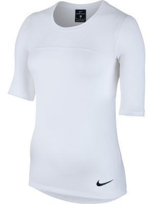 Футболка W NP HPRCL TOP SS Nike. Цвет: белый, черный