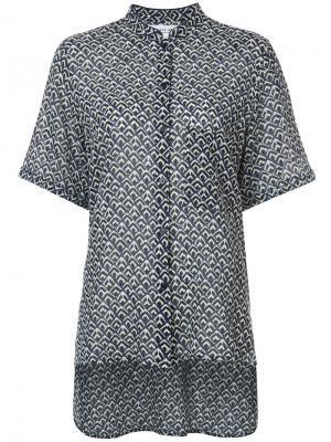 Блузка с воротником-стойкой Apiece Apart. Цвет: синий