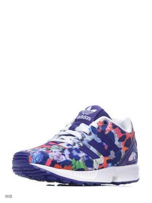 Кроссовки дет. спорт. ZX FLUX C CPURPL/CPURPL/FTWWHT Adidas. Цвет: фиолетовый