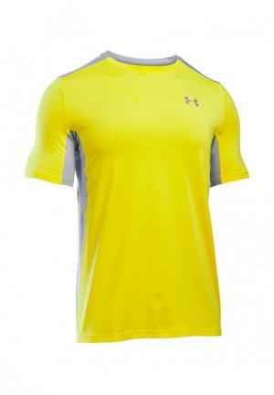 Футболка спортивная Under Armour. Цвет: желтый