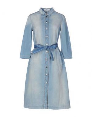 Платье до колена ALEXANDER TEREKHOV. Цвет: синий