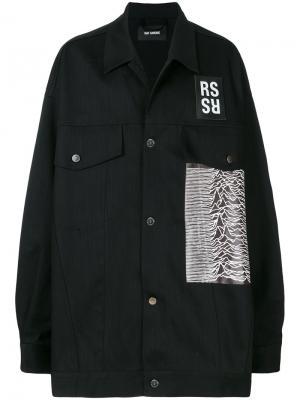 Куртка с нашивками Raf Simons. Цвет: чёрный