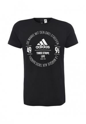 Футболка adidas Performance. Цвет: черный