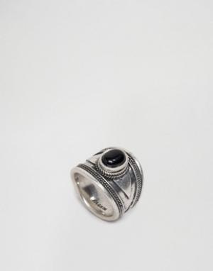 Pilgrim Массивное кольцо с камнем. Цвет: серебряный