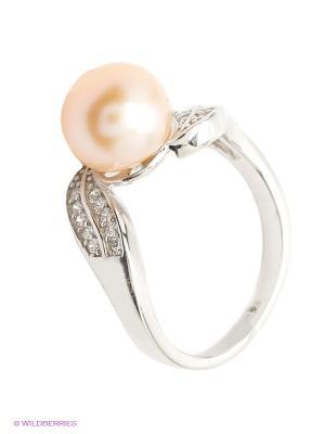 Кольцо BALEX. Цвет: серебристый, персиковый
