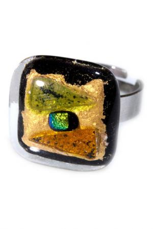 Кольцо Rozzeta. Цвет: зеленый