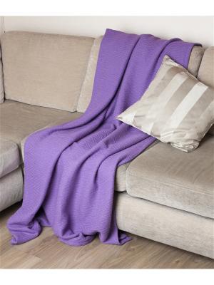 Покрывало-плед Ирис фиолетовый 100% хлопок Корона. Цвет: фиолетовый