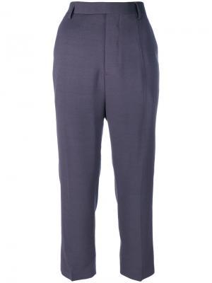 Укороченные костюмные брюки Rick Owens. Цвет: чёрный