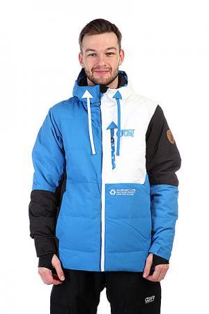 Куртка  Jkt Respect Blue Picture Organic. Цвет: белый,черный,голубой