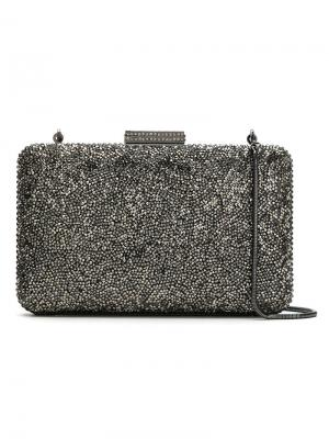 Embellished clutch Serpui. Цвет: серый