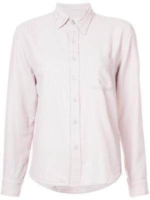 Рубашка с потертой отделкой NSF. Цвет: розовый и фиолетовый