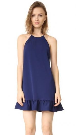 Платье Shalyn Amanda Uprichard. Цвет: темно-синий