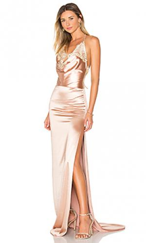 Вечернее платье charlot Gemeli Power. Цвет: металлический медный