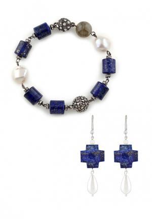 Комплект браслет и серьги Anna Slavutina. Цвет: разноцветный