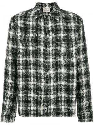 Рубашка в клетку Laneus. Цвет: чёрный