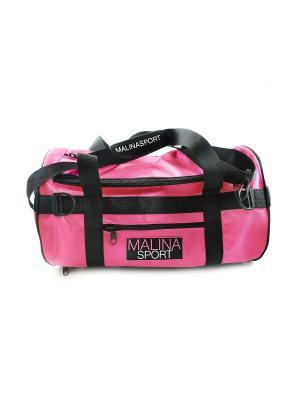 Спортивная сумка MALINAGIRLS Malinasport. Цвет: розовый
