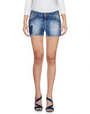 Джинсовые шорты REIGN. Цвет: синий