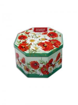 Чай Hilltop 8-гранная банка Букет цветов Цейлонское утро 150 гр.. Цвет: черный