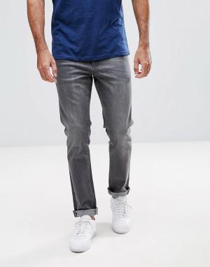 LDN DNM Выбеленные серые джинсы скинни. Цвет: серый