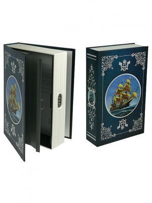 Копилка-сейф Морские приключения 24*16*6см Русские подарки. Цвет: синий