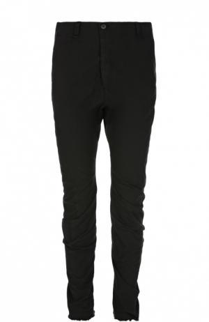 Хлопковые брюки-чинос Masnada. Цвет: черный