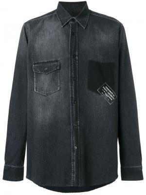 Джинсовая рубашка с логотипом Saint Laurent. Цвет: чёрный