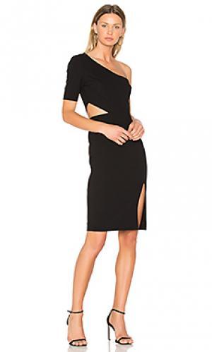 Платье на одно плечо с вырезом JILL STUART. Цвет: черный