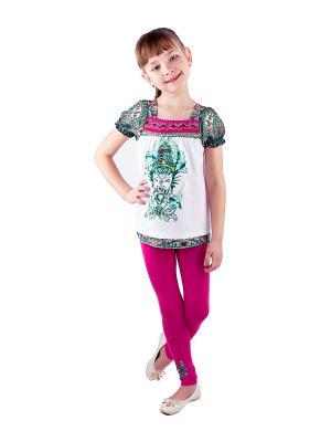 Комплект одежды Апрель. Цвет: розовый, белый, зеленый, бирюзовый