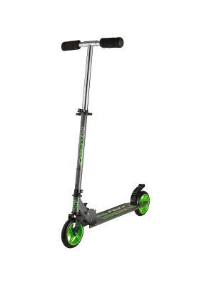 Самокат городской Foxx Extreme Power cталь PU колеса 145мм ABEC-7. Цвет: серый,зеленый