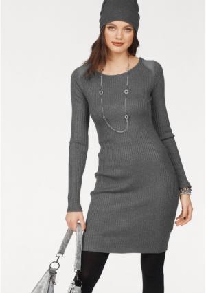 Трикотажное платье MELROSE. Цвет: темно-синий