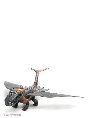 Большой дракон Беззубик SPIN MASTER. Цвет: черный, коричневый