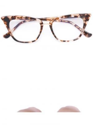 Очки Rebella Dita Eyewear. Цвет: коричневый