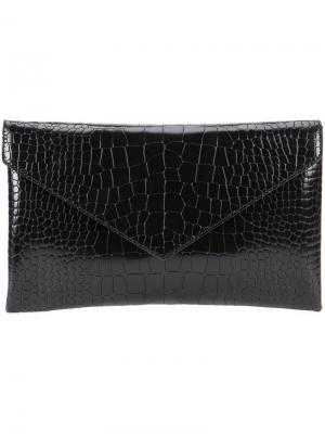 Клатч с эффектом крокодиловой кожи Alaïa. Цвет: чёрный