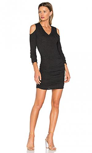 Платье с вырезами Lanston. Цвет: уголь