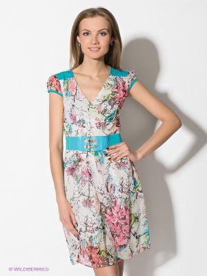 Платье TOPSANDTOPS. Цвет: голубой, белый, зеленый