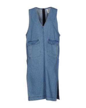 Платье до колена STEVE J & YONI P. Цвет: синий