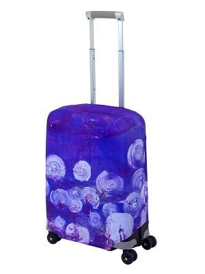Чехол для чемодана  Night Lights S Coverway. Цвет: темно-фиолетовый