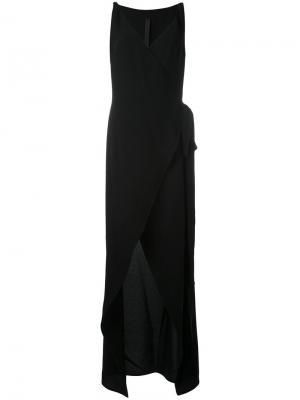 Вечернее платье с V-образным вырезом Gareth Pugh. Цвет: чёрный