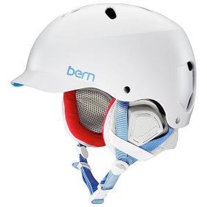 Шлем для сноуборда женский  Lenox White/Grey Premium Liner Bern. Цвет: белый