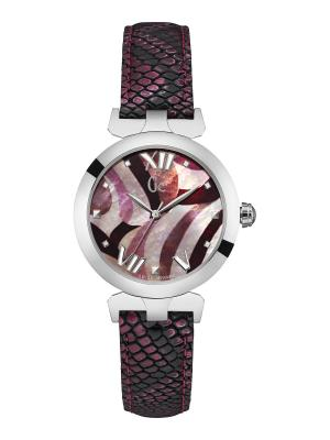 Часы GC. Цвет: бордовый, серебристый, малиновый
