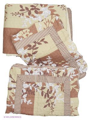 Комплект постельного белья Buenas Noches. Цвет: зеленый, коричневый, светло-коричневый, белый