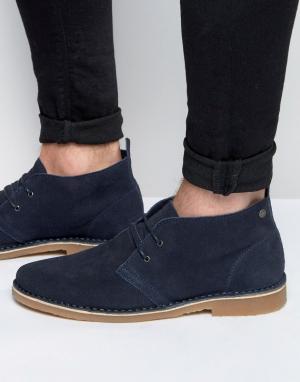 Jack & Jones Замшевые ботинки-дезерты Gobi. Цвет: темно-синий