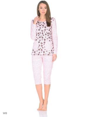 Пижама MELANA. Цвет: темно-коричневый, персиковый