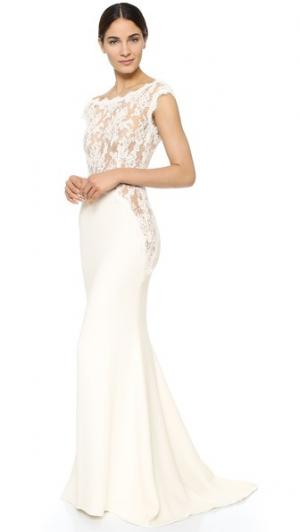 Платье I Am Fabulous Reem Acra. Цвет: золотой