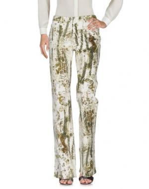 Повседневные брюки ROBERTA SCARPA. Цвет: зеленый-милитари