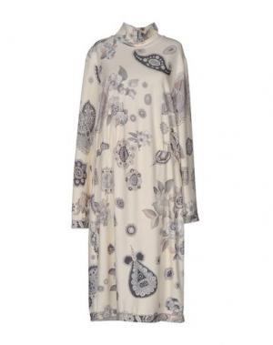 Платье до колена LEONARD Paris. Цвет: слоновая кость