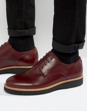 Zign Кожаные туфли дерби. Цвет: красный