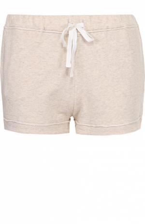 Мини-шорты с карманами и эластичным поясом Back Label. Цвет: бежевый