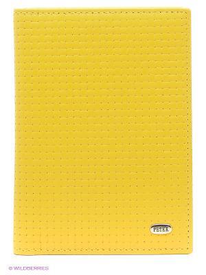 Обложка на автодокументы Petek. Цвет: желтый